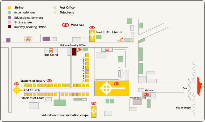 church campus map